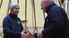 Glyn reaches his TCTOP volunteer hours with distinction